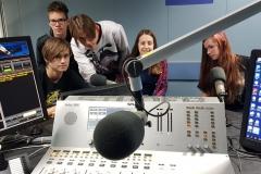 A rádió stúdiójában - Temesvár '89 diákszemmel